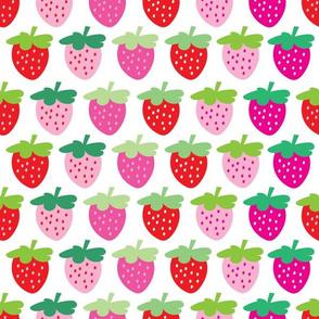 aloha strawberries 2 inch half drop on white