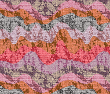 Geology waves fabric by lucybaribeau on Spoonflower - custom fabric