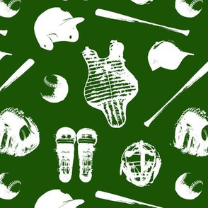Baseball Gear on Green // Small