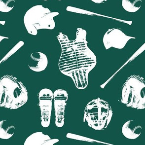 Baseball Gear on Cypress Green // Small