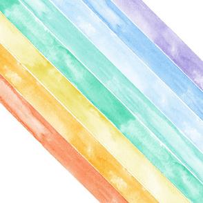"YARD PANEL MINKY watercolor rainbow - wholecloth 1 yard cut (54"")"