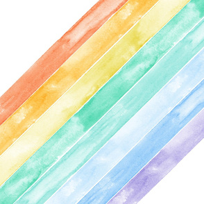"27"" (half yard minky) watercolor rainbow - wholecloth 1"