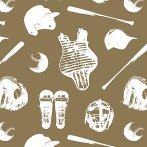 Baseball Gear on Deep Bronze // Small