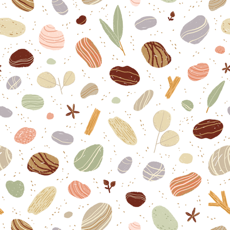 Geology through pebbles fabric by stolenpencil on Spoonflower - custom fabric