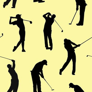 Golfers on Yellow // Large