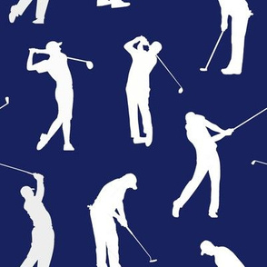 Golfers on Dark Blue // Large