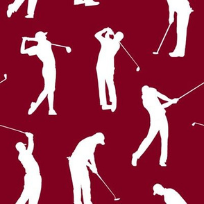 Golfers on Burgundy // Large
