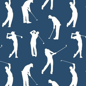 Golfers on Navy Blue // Small