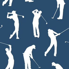 Golfers on Navy Blue // Large