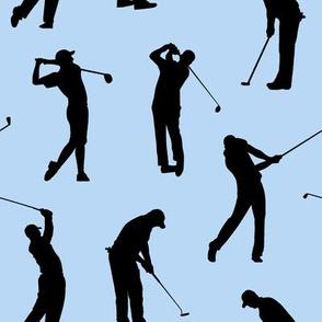 Golfers on Light Blue // Large