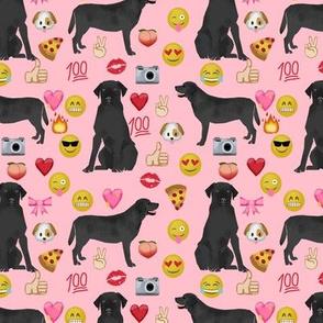 Black Lab emoji labrador retriever dog breed fabric pink