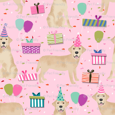 yellow lab birthday party dog breed labrador retriever pink