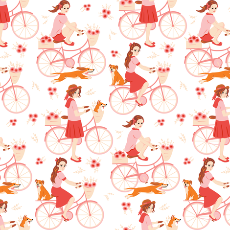 Cycling fabric by elena_naylor on Spoonflower - custom fabric