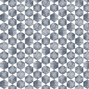 Dark Blue Gray Hexagons Pattern