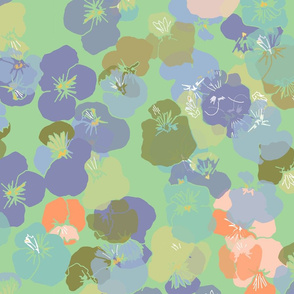 little green pansies