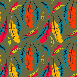 feathers forest green