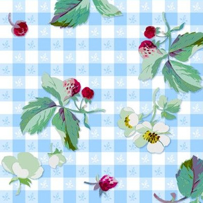 Strawberry Picnic Tartan blueberry