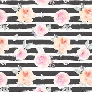 Pastel Floral Striped