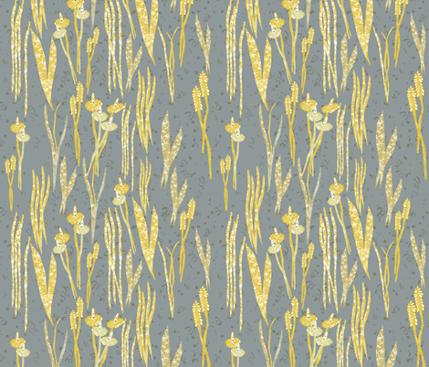 shimmering grass, by Susanne Mason fabric by susanne_mason_ on Spoonflower - custom fabric