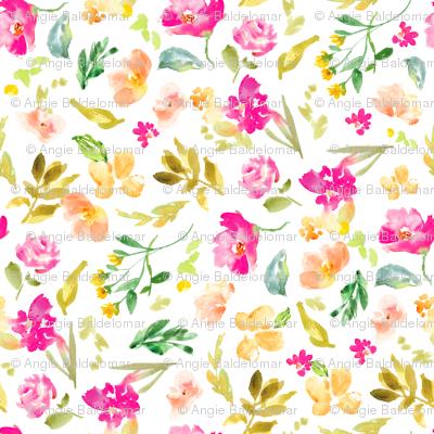 Meadow Watercolor Floral 50%