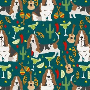 basset hound fiesta dog breed fabric
