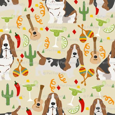 basset hound fiesta dog breed fabric tan