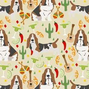 basset hound fiesta dog breed fabric tan