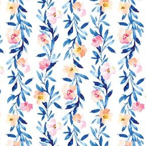 Indigo Tropica Leaves and Florals