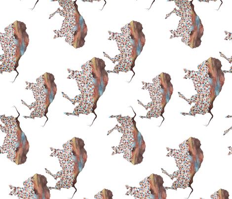 Geometric Buffalo fabric by lnd_art on Spoonflower - custom fabric