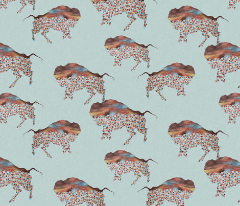 Geometric Buffalo  fabric by lnd_art on Spoonflower - custom fabric