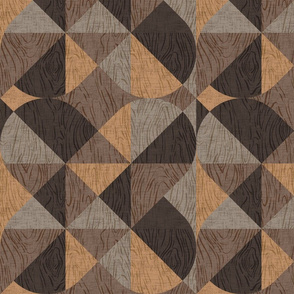 Woodgrain Geometric {Dark}