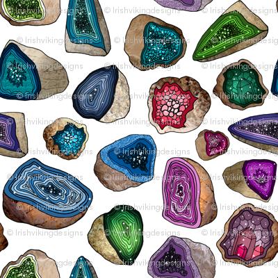 Geodes in Jewel Tones
