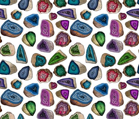 Geodes in Jewel Tones fabric by irishvikingdesigns on Spoonflower - custom fabric
