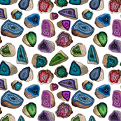 Geodes in Jewel Tones