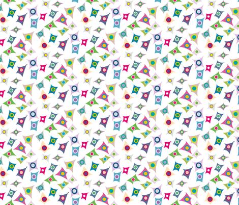 multicolored targets fabric by pimprenellestudio on Spoonflower - custom fabric