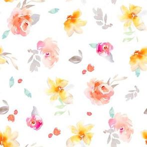 Sadie White Floral
