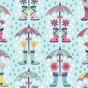 Raindrops and Rain Boots (March)