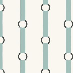 Halter Stripe - Aqua, H White