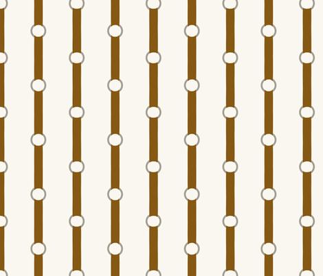 Halter Stripe - Brown, H White fabric by fernlesliestudio on Spoonflower - custom fabric