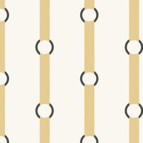 Halter Stripe - Straw, H White