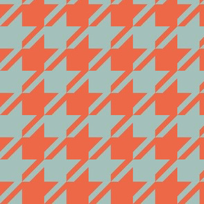 Houndstooth - Mint, Red