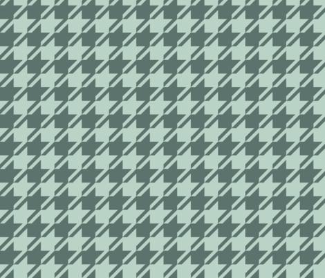 Houndstooth - Teal, Mint fabric by fernlesliestudio on Spoonflower - custom fabric
