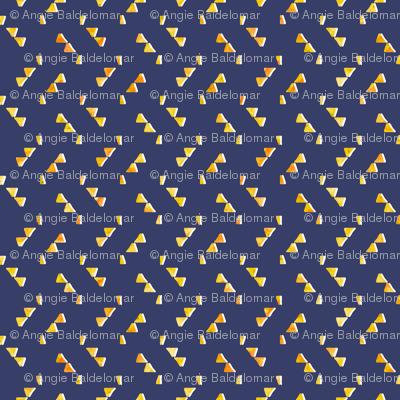 Navily Geometric Yellow on Navy