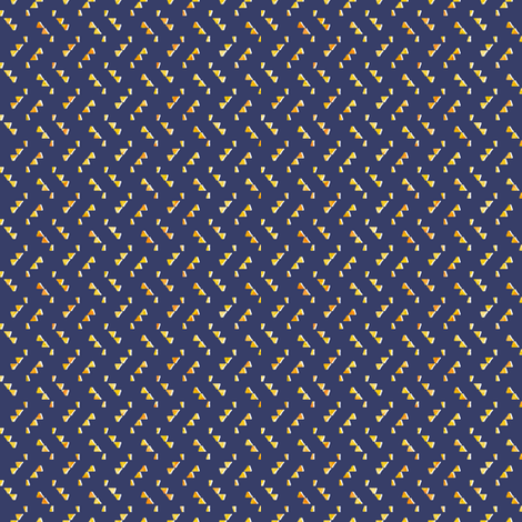 Navily Geometric Yellow on Navy fabric by angiemakes on Spoonflower - custom fabric