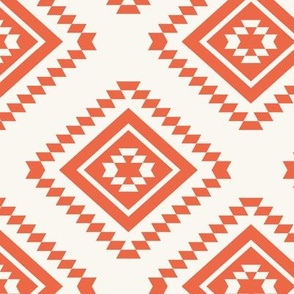 Aztec - Red, H White