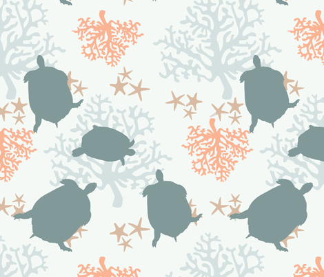 Save Our Sea Turtles fabric by ricerafferty on Spoonflower - custom fabric