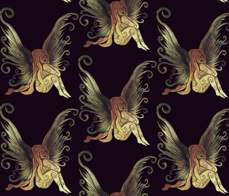 First fairy fabric by cookiewheats on Spoonflower - custom fabric