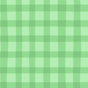 Checkered green plaid vichy by unPATO