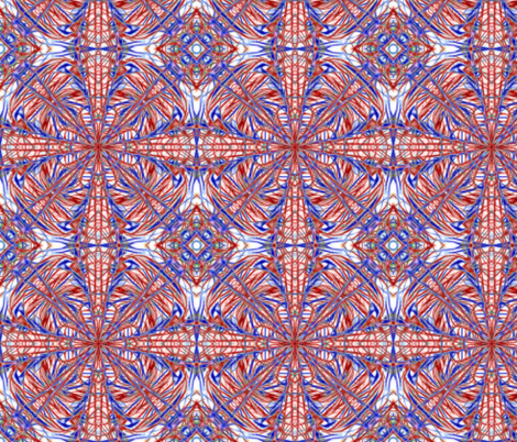 Red-White-Blue 003 8x8 fabric by stradling_designs on Spoonflower - custom fabric