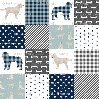 doodle pet quilt b cheater quilts wholecloth dog fabric